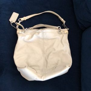Coach purse off white leather